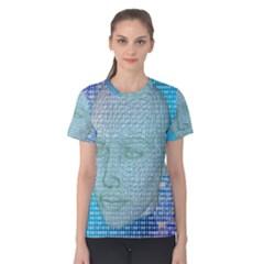 Digital Pattern Women s Cotton Tee