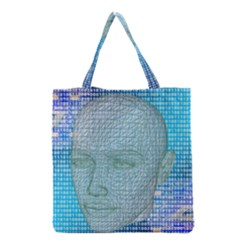 Digital Pattern Grocery Tote Bag