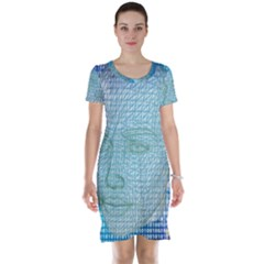 Digital Pattern Short Sleeve Nightdress
