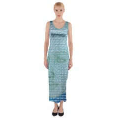 Digital Pattern Fitted Maxi Dress
