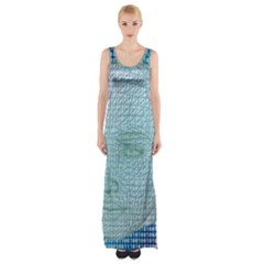 Digital Pattern Maxi Thigh Split Dress
