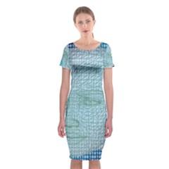 Digital Pattern Classic Short Sleeve Midi Dress