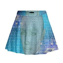 Digital Pattern Mini Flare Skirt