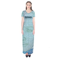 Digital Pattern Short Sleeve Maxi Dress