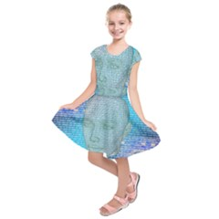 Digital Pattern Kids  Short Sleeve Dress