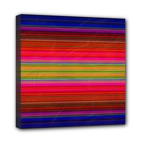Fiesta Stripe Colorful Neon Background Mini Canvas 8  X 8