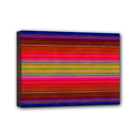 Fiesta Stripe Colorful Neon Background Mini Canvas 7  X 5