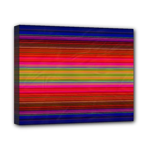 Fiesta Stripe Colorful Neon Background Canvas 10  X 8