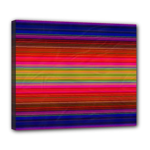 Fiesta Stripe Colorful Neon Background Deluxe Canvas 24  X 20
