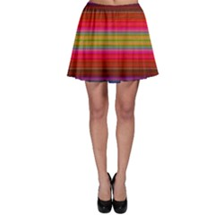 Fiesta Stripe Colorful Neon Background Skater Skirt