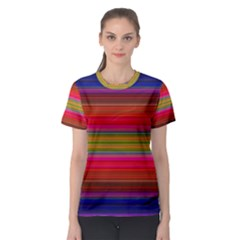 Fiesta Stripe Colorful Neon Background Women s Sport Mesh Tee