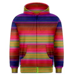 Fiesta Stripe Colorful Neon Background Men s Zipper Hoodie