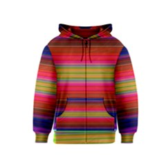 Fiesta Stripe Colorful Neon Background Kids  Zipper Hoodie