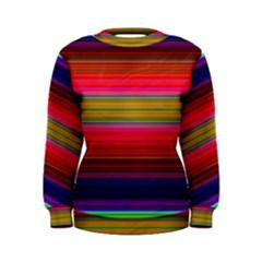 Fiesta Stripe Colorful Neon Background Women s Sweatshirt