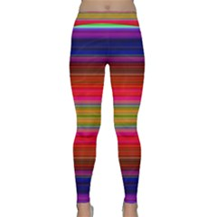 Fiesta Stripe Colorful Neon Background Classic Yoga Leggings