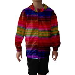 Fiesta Stripe Colorful Neon Background Hooded Wind Breaker (kids)