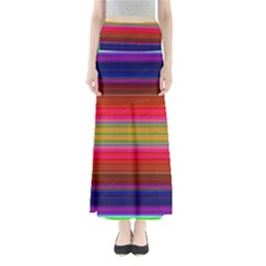 Fiesta Stripe Colorful Neon Background Maxi Skirts