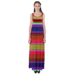 Fiesta Stripe Colorful Neon Background Empire Waist Maxi Dress