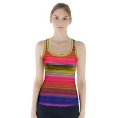 Fiesta Stripe Colorful Neon Background Racer Back Sports Top