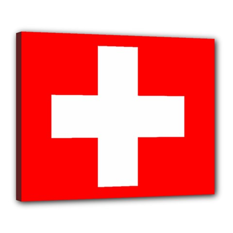 Flag Of Switzerland Canvas 20  X 16