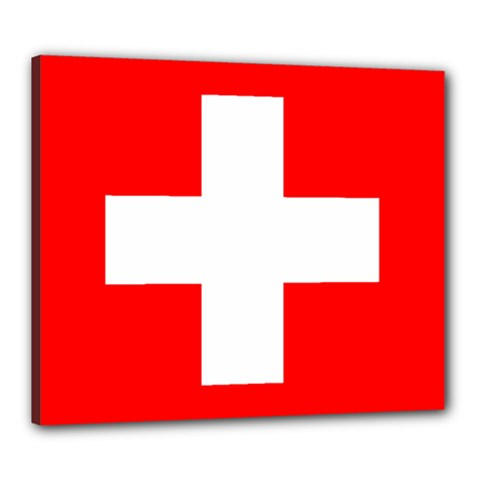 Flag Of Switzerland Canvas 24  X 20
