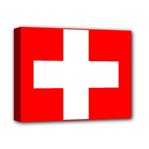 Flag Of Switzerland Deluxe Canvas 14  X 11