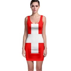 Flag Of Switzerland Sleeveless Bodycon Dress