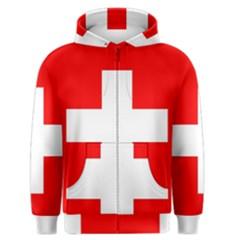 Flag Of Switzerland Men s Zipper Hoodie