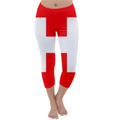 Flag Of Switzerland Capri Winter Leggings