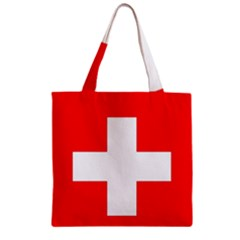 Flag Of Switzerland Zipper Grocery Tote Bag