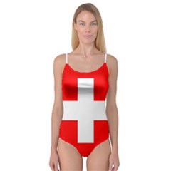 Flag Of Switzerland Camisole Leotard