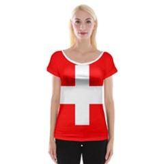 Flag Of Switzerland Women s Cap Sleeve Top