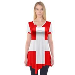 Flag Of Switzerland Short Sleeve Tunic