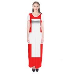 Flag Of Switzerland Short Sleeve Maxi Dress