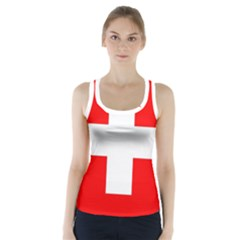 Flag Of Switzerland Racer Back Sports Top