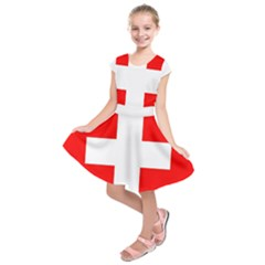 Flag Of Switzerland Kids  Short Sleeve Dress