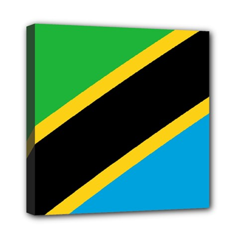 Flag Of Tanzania Mini Canvas 8  X 8