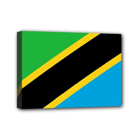 Flag Of Tanzania Mini Canvas 7  X 5