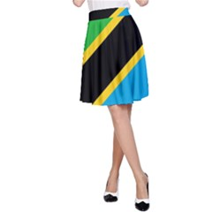 Flag Of Tanzania A Line Skirt