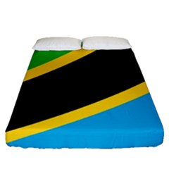 Flag Of Tanzania Fitted Sheet (queen Size)