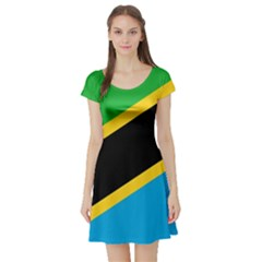 Flag Of Tanzania Short Sleeve Skater Dress