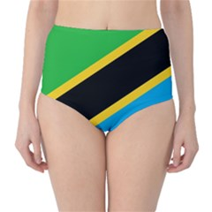 Flag Of Tanzania High-Waist Bikini Bottoms