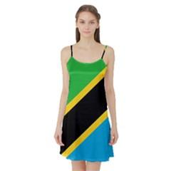 Flag Of Tanzania Satin Night Slip