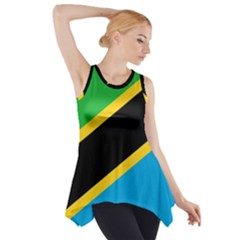Flag Of Tanzania Side Drop Tank Tunic