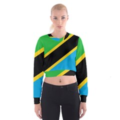 Flag Of Tanzania Women s Cropped Sweatshirt