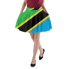 Flag Of Tanzania A-Line Pocket Skirt