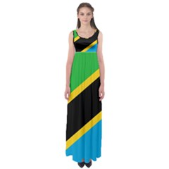 Flag Of Tanzania Empire Waist Maxi Dress