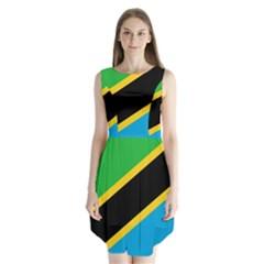 Flag Of Tanzania Sleeveless Chiffon Dress