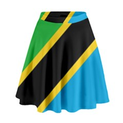 Flag Of Tanzania High Waist Skirt