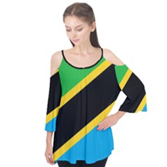 Flag Of Tanzania Flutter Tees